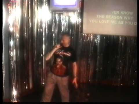 NIGEL ON KARAOKE AT GAIETYS KARAOKE BAR IN BLACKPOOL 2006 Singng Elvis Presley The Wonder of you MPE