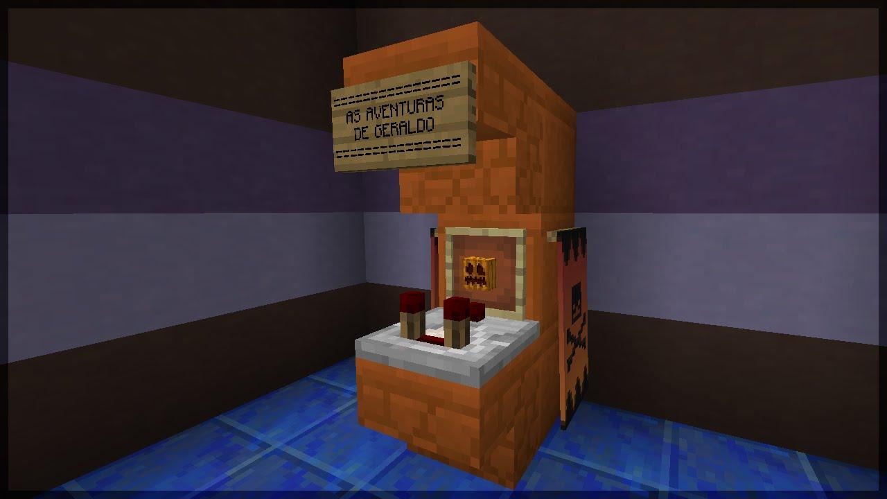 Minecraft  Como Fazer Uma M U00e1quina De Fliperama  Arcade