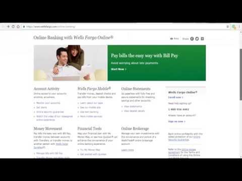 Wells Fargo Online Banking Login Tutorial