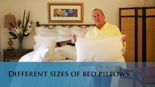 Different size bed pillows. (www.verolinens.com)