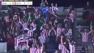 aritz aduriz goal   fc barcelona 1 1 athlethic bilbao   supercopa de espana 2015