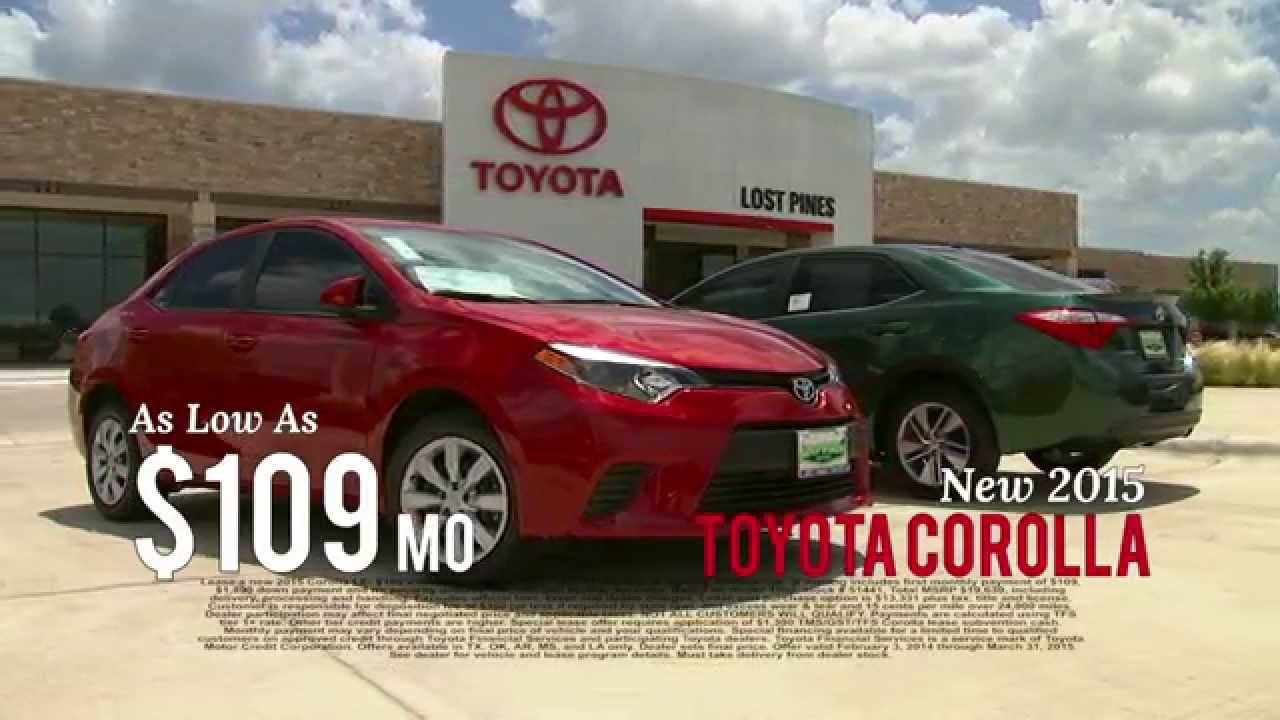 corolla 1 for everyone sales event lost pines toyota in bastrop youtube. Black Bedroom Furniture Sets. Home Design Ideas