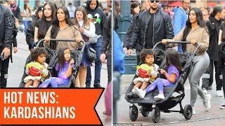 Kim Kardashian pushes North and Saint at nephew's birthday in Disneyland