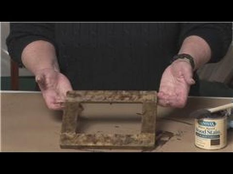 Picture Framing How To Make A Picture Frame Look Antique Youtube