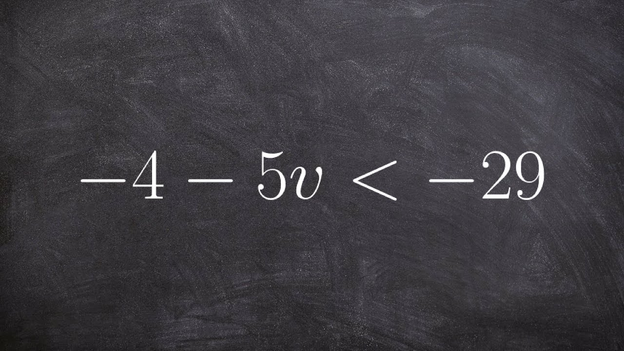 Algebra 1 - Solving a two step inequality - Learn Math Online - YouTube