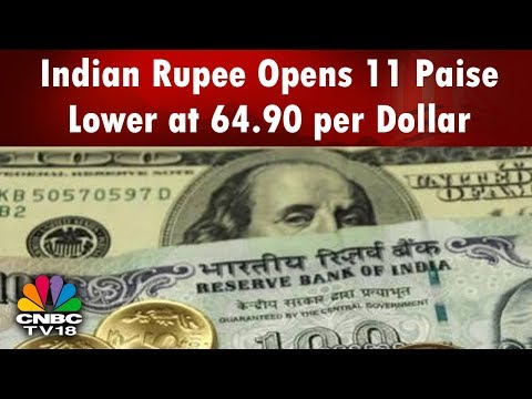 Indian Rupee Opens 11 Paise Lower at 64.90 per Dollar   Bazaar Morning Call (Part 01)   CNBC-TV18