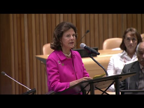 HM Queen Silvia at UN High Level Meeting on SDGs Child Rights