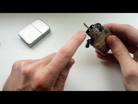 Как вставить фитиль в зиппо