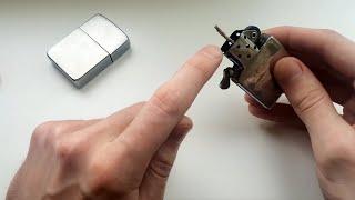 Как поменять фитиль в зажигалке Zippo
