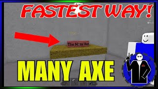 Roblox Lumber Tycoon 2 Fastest Way to the MANY AXE