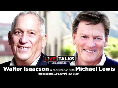 Walter Isaacson in conversation with Michael Lewis at Live Talks Los Angeles