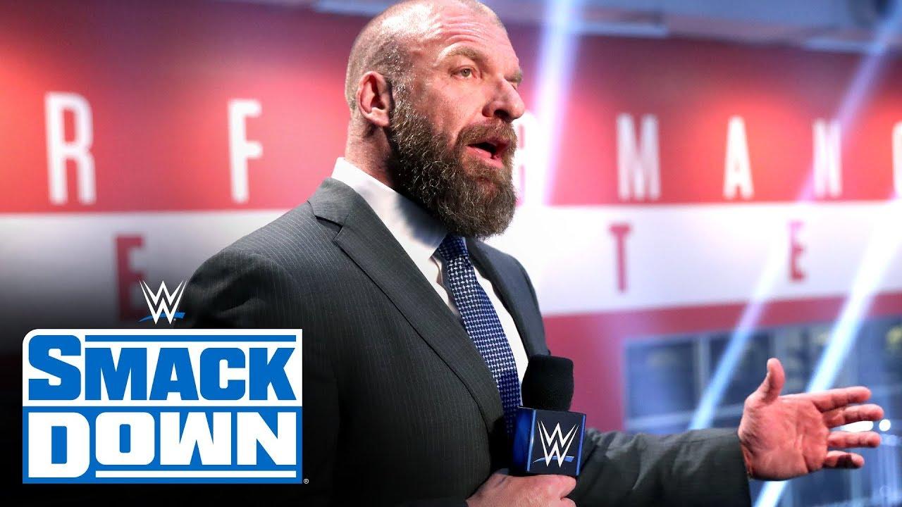 Resultado de imagem para Triple H WWE Performance Center smackdown