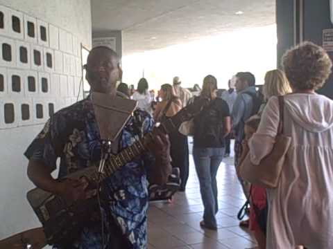 Welcome music at Cyril E. King airport on St. Thomas, USVI (STT)