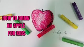 How to draw an apple for kids -Hobby Learners in Tamil