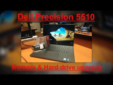 Dell Precision 5510 Memory & hard drive Upgrade