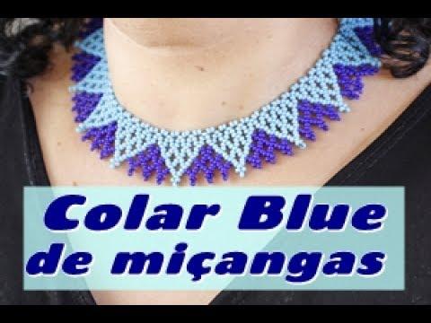NM Bijoux - Colar Blue de miçangas -...