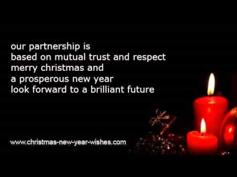 business merry christmas happy new year wishes youtube
