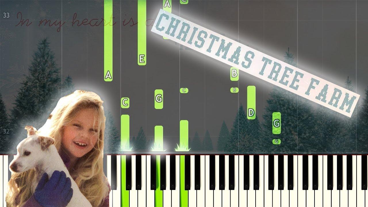Taylor Swift Christmas Tree Farm Easy Piano Tutorial Sheet Music Youtube