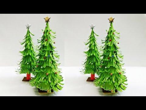 3D Paper Christmas Tree | Christmas Tree Decorations Ideas | Tabletop Christmas tree | Craftastic