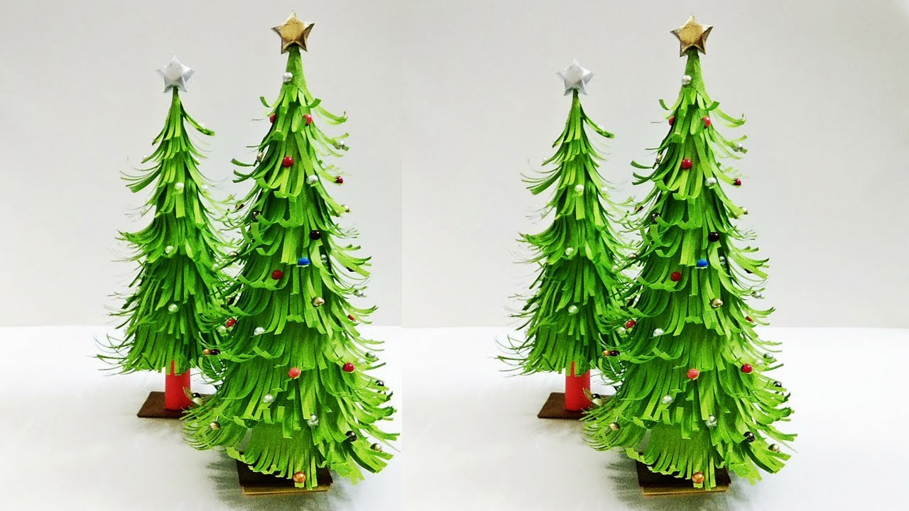 3d paper christmas tree christmas tree decorations ideas tabletop christmas tree craftastic