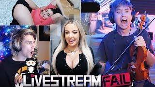 """xQc Reacts to Funny Clips From """"Reddit: LiveStreamFail"""" with Chat 