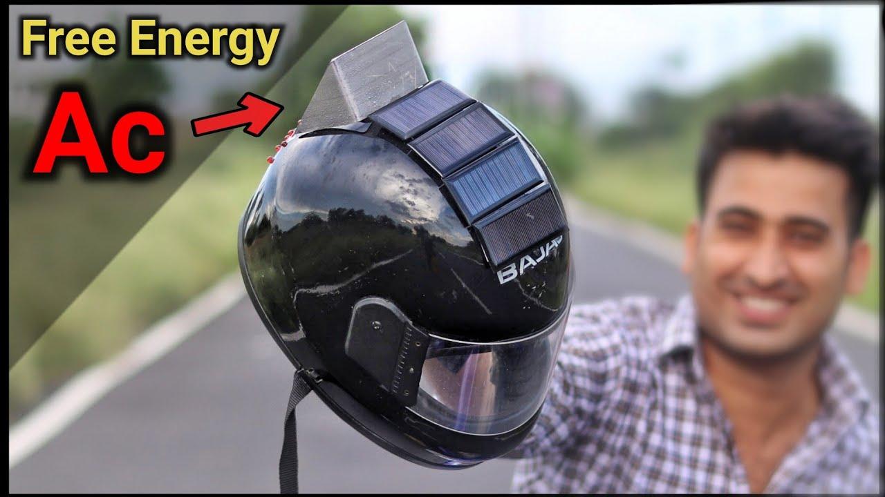 Halmet Modification || घर पर बनाया 3 IN 1 AC वाला Halmet || Smart Helmet || Jugad