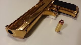 Shooting the GOLD Desert eagle .50AE