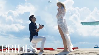 Victoria's Secret Model Devon Windsor's Perfect Proposal | BRIDES
