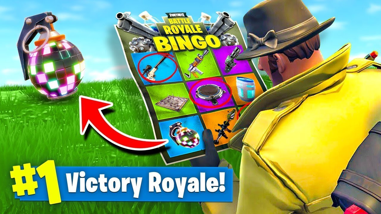 Fortnite Bingo Created by Fans Just Before Season 5 Begins - IGN