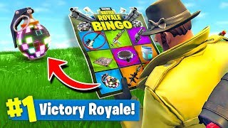 FORTNITE BINGO *NEW* Custom Gamemode In Fortnite Battle Royale