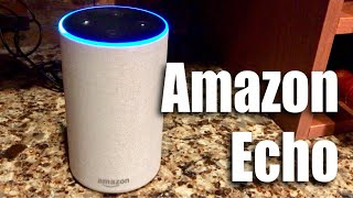 Amazon Echo (2nd Generation) in Sandstone Fabric Unboxing and Dolby Sound Test