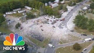 Aerials Show Aftermath Of Maine Explosion, Police Describe 'Total Devastation' | NBC News