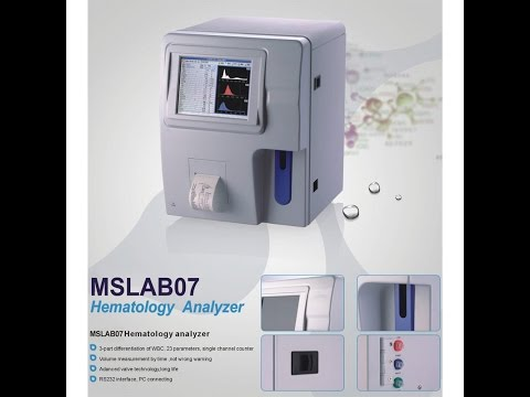 MSL factory direct medical Automated blood analyzers MSLAB07 Operating Video