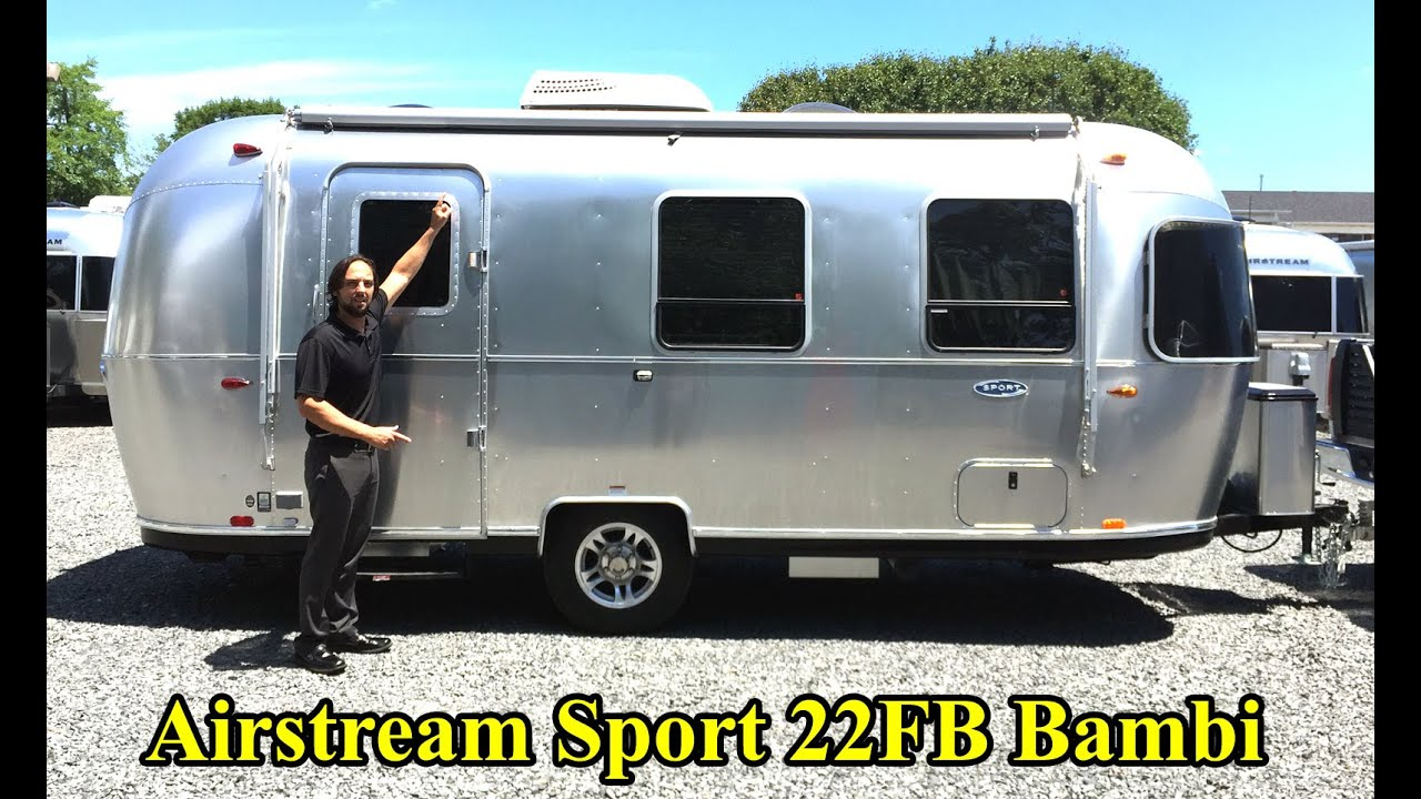 walk through 2017 airstream sport 22fb bambi light weig doovi. Black Bedroom Furniture Sets. Home Design Ideas