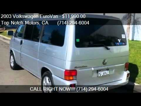 2003 Volkswagen EuroVan MV for sale in Orange, CA 92867 at T