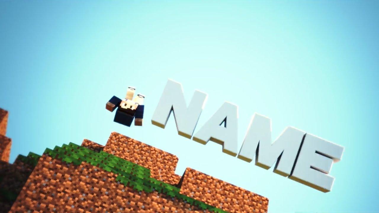 Minecraft animation intro template cinema 4d : Rotary watch