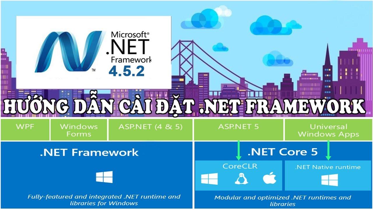 Hướng dẫn tải và cài đặt Microsoft .NET Framework – Bộ Framework chính thức từ Microsoft
