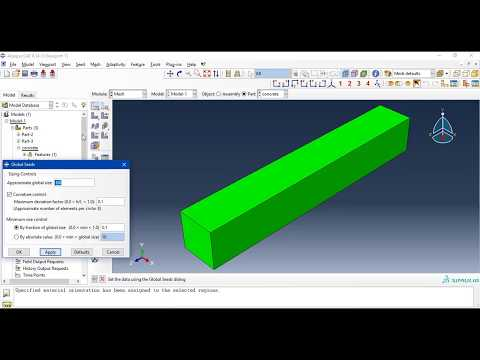 Modelling and Apply  pushover and cyclic load test on beam column by ABAQUS and get hysteresis loop