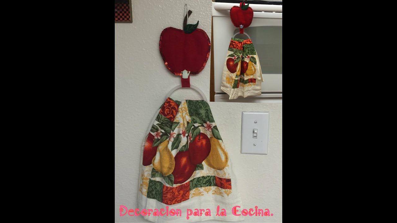 Manualidad de secador de toalla para la cocina youtube for Manualidades para la cocina