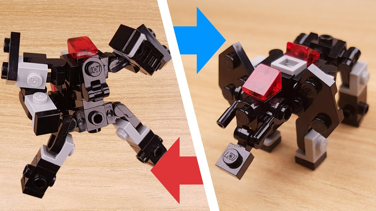 How to build LEGO brick mini mammoth (elephant) transformer mech - EL Kaiser