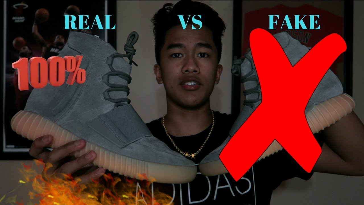 eeecf8914641 YEEZY 750 BOOST GUM BOTTOMS REAL VS FAKE! (MUST WATCH) - YouTube