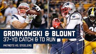 Brady's 37-Yard Pass to Gronk Leads to Blount's TD Blast! | Patriots vs. Steelers | NFL