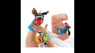 """Обзор погремушки """"Жираф и зебра"""" на запястья и ножки"""