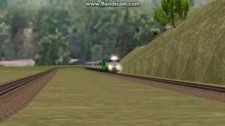 openbve indonesia cc 206 13 30 ka 10 argo dwipangga berjalan melalui sepur salah