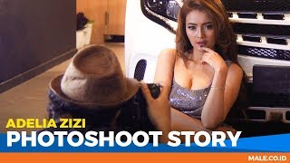 ADELIA ZIZI di Behind the Scenes Photoshoot - Male Indonesia | Model Hot Indo