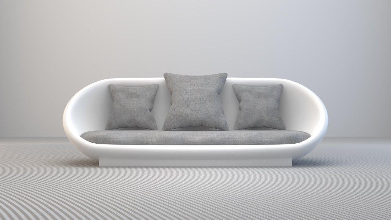 Create modern couch sofa in blender