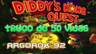 Trucos Donkey Kong Country 2 - 50 Vidas con Argorok92