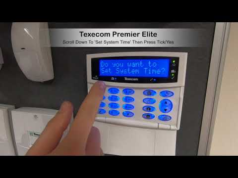 Texecom Premier Elite Set Date And Time