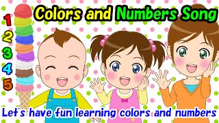 【Colors and Numbers Song】Educational videos | Nursery Rhymes | Kids Songs | Lifestyle habits