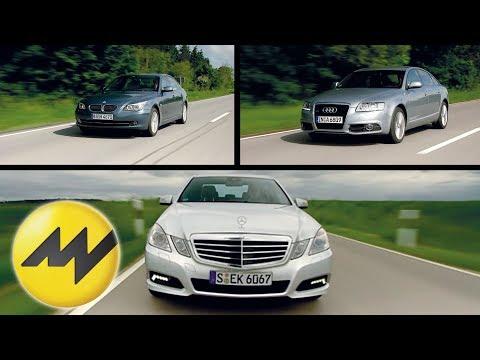 Audi A6 vs. Mercedes E-Klasse und BMW 530i